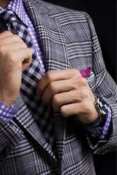 You know how much I love pattern on pattern. It would be so handsome on you!