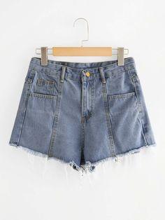 a33bd127b5f Frayed Hem Denim Shorts