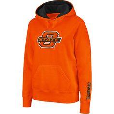 Oklahoma State Cowboys Ladies Orange Big Logo Pullover Hoodie Sweatshirt