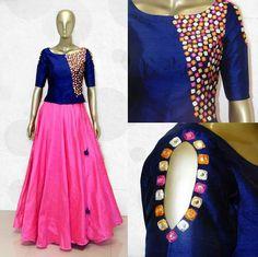 Kurtas - Online Sale India Hanji y r thika aa Mai happycc happhappy<br> Churidar Designs, Lehenga Designs, Saree Blouse Designs, Dress Designs, Indian Dresses, Indian Outfits, Kids Frocks, Indian Designer Outfits, Saree Dress