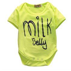 Neon Milk Belly Onesie