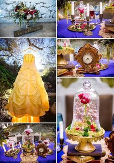 Beauty and the Beast Wedding Inspiration - Disney Fairytale Weddings Beauty And The Beast Wedding Theme, Wedding Beauty, Dream Wedding, Magical Wedding, Wedding Themes, Wedding Decorations, Wedding Ideas, Themed Weddings, Trendy Wedding