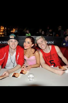 05229f42eca5 AG - check out this ancient pic of Ariana with Brian and Skot!