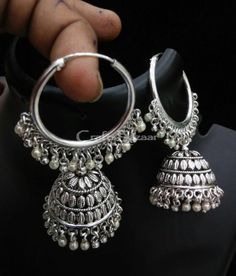 A Stylish Designer Jhumki Earrings is finished in an eye-catching color  enhances a Traditional Touch to Your Ensembles. For any kind of dressing from western to traditional  #craftsofindia #indianhandicrafts #madeinindia #craftsbazaar #artsandcrafts #handmade to indo-western style and occasion one can wear this.