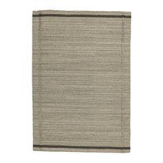 High Quality,100%Cotton/Wool Handwoven Unique Flatwoven Rug (Beige) - 133x195 cm