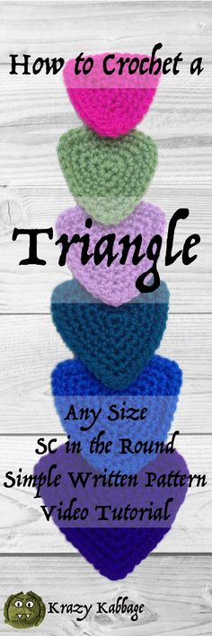 Crochet Triangle – Krazykabbage