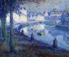 La petite ville au matin, Quiperlé (1919) - Henri Le Sidaner