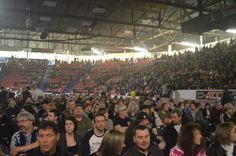 Crowd shot at ZZ Top concert in Westman Place, Keystone Centre Brandon, MB 2014