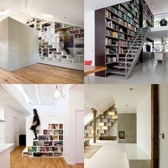 Dezeen archive: bookshelf staircases