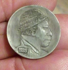 "Hobo Nickel Folk Art Buffalo Nickel Hobo Has Returned by ""Sue"" 