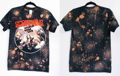 #Scorpions #Bleachedshirt We can custom like this picture with your own shirts or our T shirts collections .