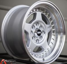 15x8 5 Str 512 4x114 3 0 Silver Machined Wheel Fit Datsun 240Z 260z 280z AE86 | eBay