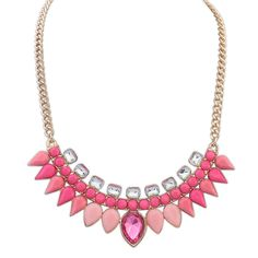 Winter.Z Drops of water Gemstone Explosion models exaggeration fashion retro false collar necklace *** Instant Savings available here : Women's Fashion for FREE