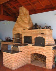 churrasqueira, fornos e fogão