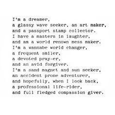 dreamer. Aren't we all a dreamer at some point? Inspiration for The Dream of Love
