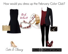 """""""Feb color club style"""" by eastlyn-megan on Polyvore featuring RED Valentino, Warehouse, WearAll, Vero Moda, Michael Antonio, Christian Louboutin, Forever 21, women's clothing, women and female"""