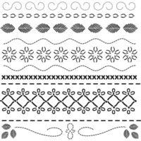 "Pochoir  ""Bordures décoratives""- 30X30cm (12""X12"")"