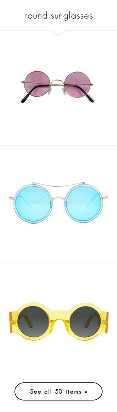 """""""round sunglasses"""" by karla-jhoana ❤ liked on Polyvore featuring accessories, eyewear, sunglasses, glasses, fillers, lens glasses, rose glasses, pink lens sunglasses, hippie glasses and rose sunglasses"""