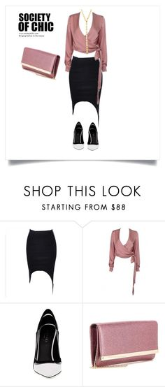 """SHOP - Society of Chic"" by societyofchic ❤ liked on Polyvore featuring Greymer, Jimmy Choo and Jules Smith"