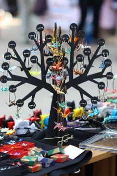 origami, tree Origami Tree, Czech Republic, Prague, Birthday Candles, Diy, Jewelry, Jewlery, Bricolage, Jewerly