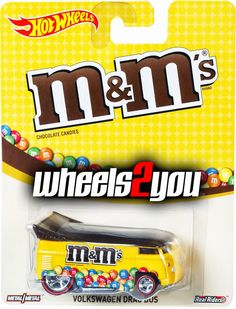 VOLKSWAGEN DRAG BUS M&Ms- Mars Candy- 2015 Hot Wheels Pop Culture B Case #HotWheels #VOLKSWAGENDRAGBUS