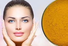 Turmeric mask recipe for a radiant complexion, acne, rosacea and dark circles Raw Beauty, Beauty Tips For Skin, Beauty Makeup Tips, Beauty Care, Beauty Hacks, Health And Beauty, Turmeric Mask, Homemade Acne Treatment, Homemade Cosmetics