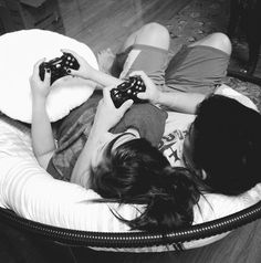 """""""You're totally cheating, Baker!"""" Gabby whined, frantically pushing buttons on the control pad in her hands. She was currently sitting in the lounge with Zack, the newly official couple sharing the recliner and battling each other in a game of 'Machine Hunter'. Zack chuckled, glancing sideways at the dark redhaired teen tucked under his arm; """"It's not my fault you suck, Butterfly..."""""""