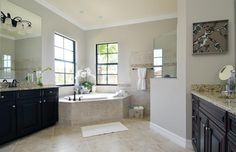 Gorgeous master bathroom in the Toscana model home in Treviso Bay in Naples!