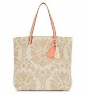 Cream Woven Tote Bag with Tassles £19.99 €24.99, get this image at prshots.com