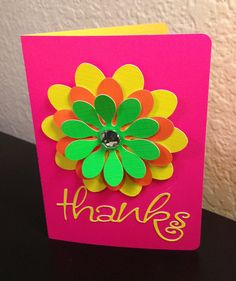 Silhouette Cameo ~ Thank You Card