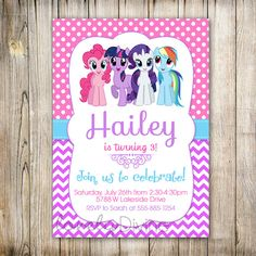 My Little Pony Invitation My Little Pony Invite por LovelyDivine9