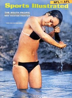 Here's another one, from 1968, before Photoshop waist and thigh skimming. SI Swimsuit Issue