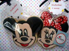 Mickey and Minie Cookies Cookieria By Margaret, biscoito decorado, bolacha decorada