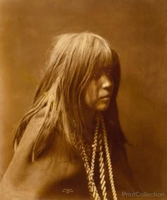 Mosa, Mohave Indian by Edward Curtis