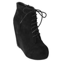 Journee Collection Womens Lace-up Platform Wedge Booties...i love these types of shoes im getting me a pair :D