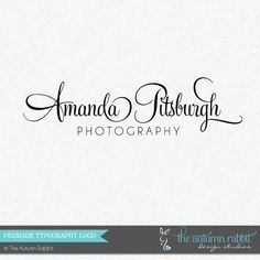Premade Photography Logo Design - 2 font logo design - Photography Watermark - Logo Watermark - Business Branding - Business Branding on Etsy, $30.00
