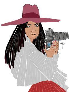Dreadlocks girl with camera Black Girl Art, Black Women Art, Black Girls Rock, Black Women Fashion, Black Love, Black Is Beautiful, Black Art, Black Girl Magic, Art Girl