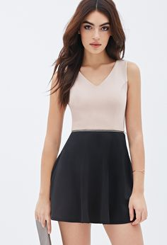 Zippered Colorblock Dress | FOREVER21 - 2000138571