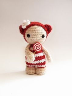 Miss Lollypop the cute amigurumi doll. by CreepyandCute on Etsy, €26.50