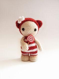Miss Lollypop the cute amigurumi doll. by CreepyandCute on Etsy, €26.50