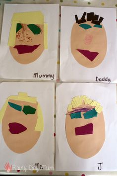 Family Portraits - creative exploration of the family and hertitage theme for preschoolers that can be used in a classroom or a home setting