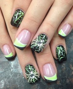 Spider Web by Pinky - Nail Art Gallery nailartgallery.nailsmag.com by Nails Magazine www.nailsmag.com #nailart