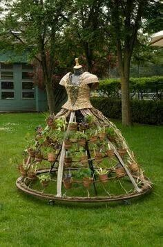 New diy garden art landscaping inspiration IdeasGarden Art I just love getting new ideas for my yard. These are some wonderful garden art ideas to save or to create later. - All For GardenThe Mobile Garden Dress.