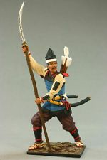 Tin toy soldiers painted 54mm М173 Ashigaru. Japan, 15-16 age