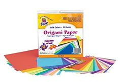 Pacon Origami Paper, Assorted Colors, Assorted Sizes, 55 Sheets