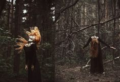 Deer Girl by Nava Monde, via Behance Halloween Mini Session, Halloween Pictures, Halloween Fotografie, Dead Forest, Witches Night Out, Deer Girl, Halloween Photography, Misty Forest, Witch Aesthetic