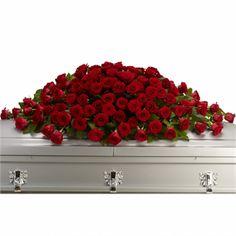 Greatest Love Casket Spray flower arrangement #casket #flowers  Walker Funeral Home Cincinnati, OH www.herbwalker.com