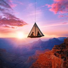 Tent hanging above the Grand Canyon | Robert Jahns Photography #SeeWhatOthersCantSee