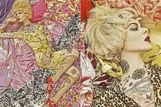 Taking inspiration from a dip into the past, Patternbank discovered this print and pattern rich feature for Vogue Italia in December 2007 by celebrated pho