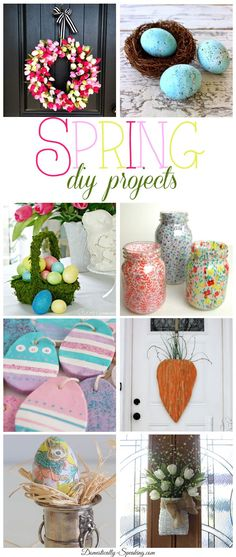 Spring DIY Projects - Great craft decor ideas